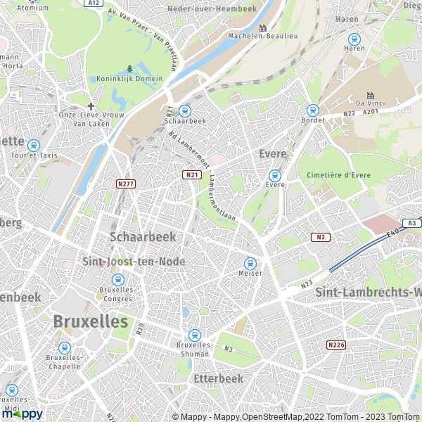 Plan schaerbeek carte de schaerbeek 1030 et infos pratiques