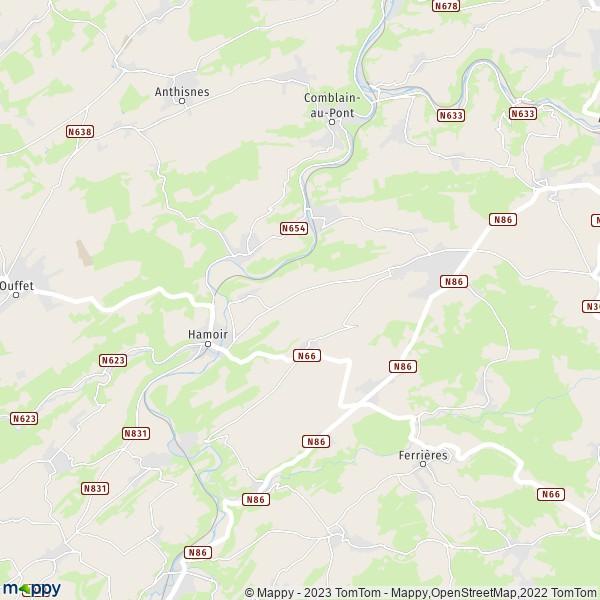 Carte Belgique Hamoir.Plan Hamoir Carte De Hamoir 4180 Et Infos Pratiques