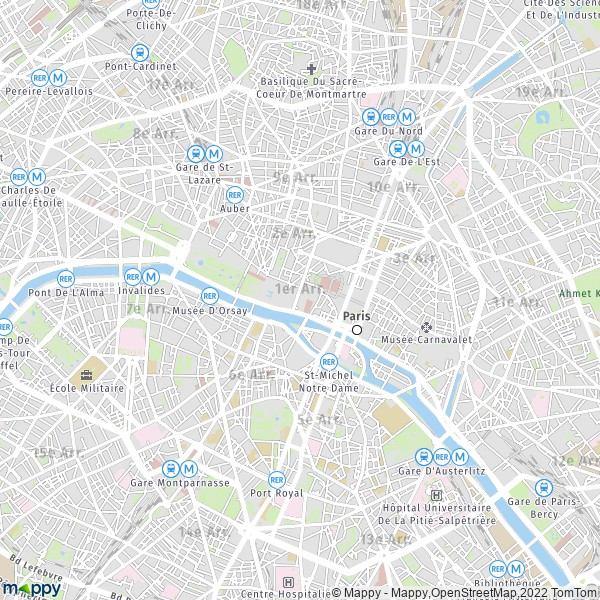 plan de 1er Arrondissement Paris, carte de 1er Arrondissement Paris