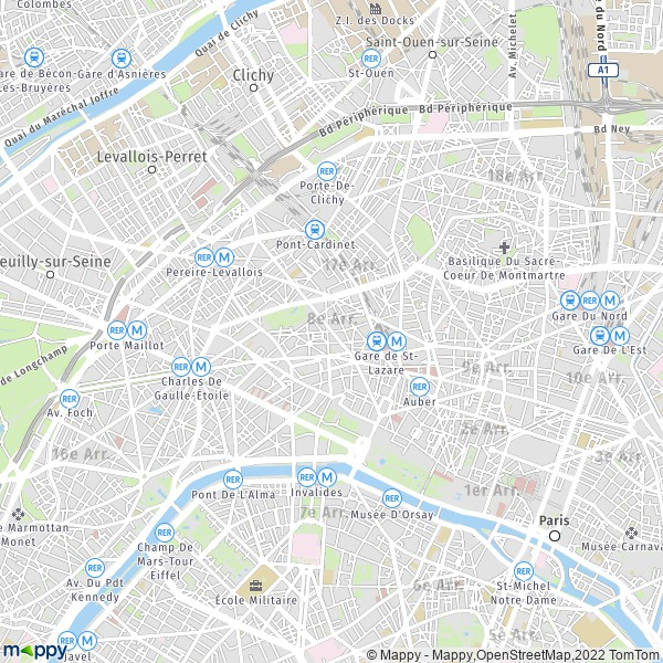 plan de 8e Arrondissement, Paris, carte de 8e Arrondissement, Paris