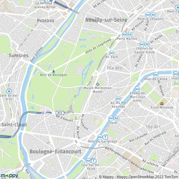 Plan Paris   Carte De Paris  75016  Et Infos Pratiques